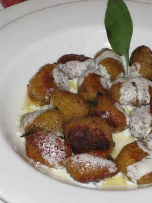 Tulio's legendary sweet potato gnocchi
