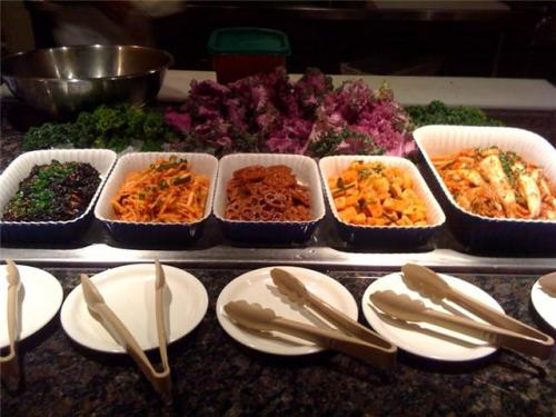 Bluefin's banchan bar